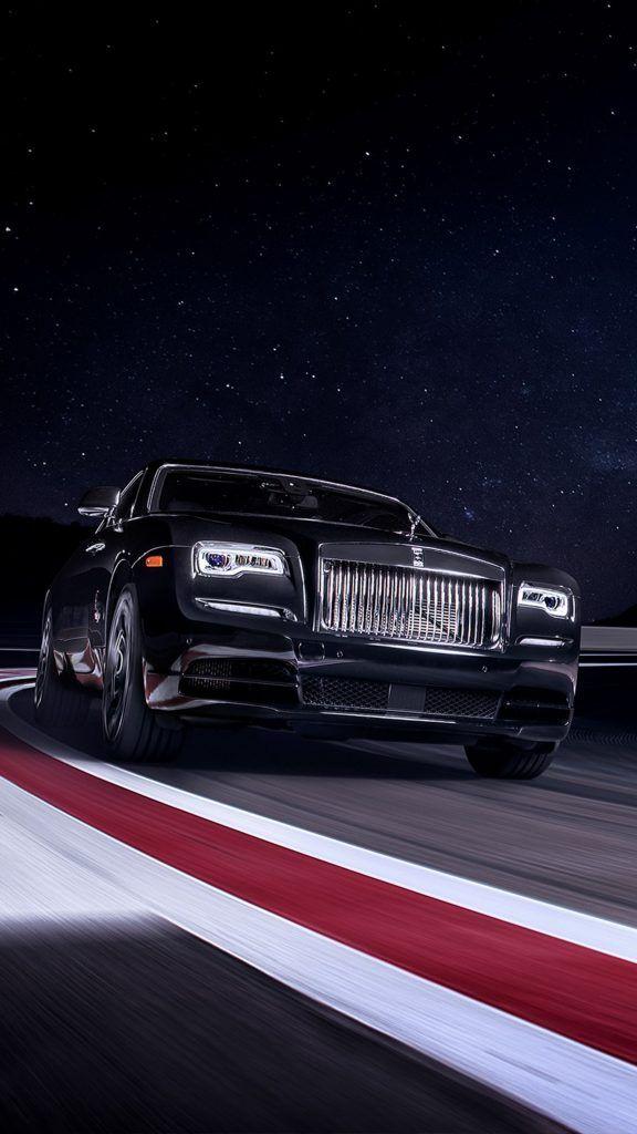 Rolls Royce Black Badge Wraith On Race Track Rolls Royce Black