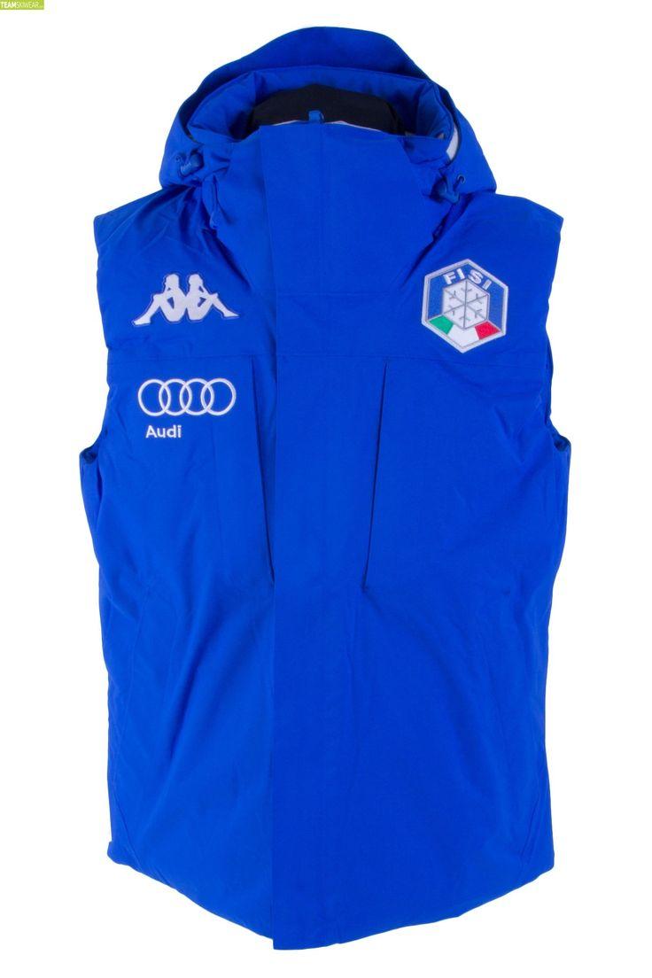 Kappa Men Italian Alpine Team FISI Vest - Blue Princess Silver