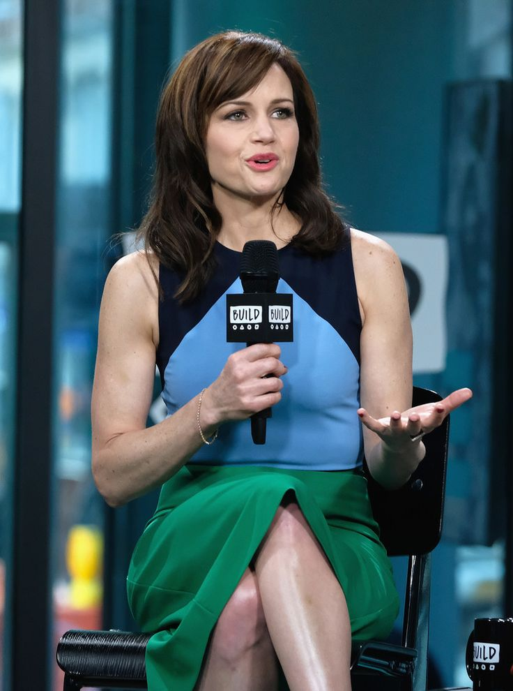 "Build Series Presents Carla Gugino Discussing ""The Space Between Us"" at Build Studio on January 26, 2017 in New York City."