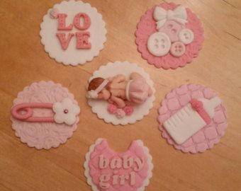 edible baby shower cupcake toppers