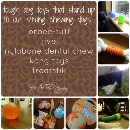 Tough Dog Toys Perfect for Strong Chewers  A while back, I shared that I would find REAL tough toys and I DID!!!!  I found several toys that have stood up to our dogs teeth (we have VERY strong chewers) and keep them entertained.  Treatstik, Nylabone, West Paw Design, Starmark Academy and a couple more!  Have you cracked the code and found a toy that can stand up to your dog?