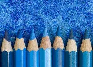Blue pencils....for some reason, I just love this picture.