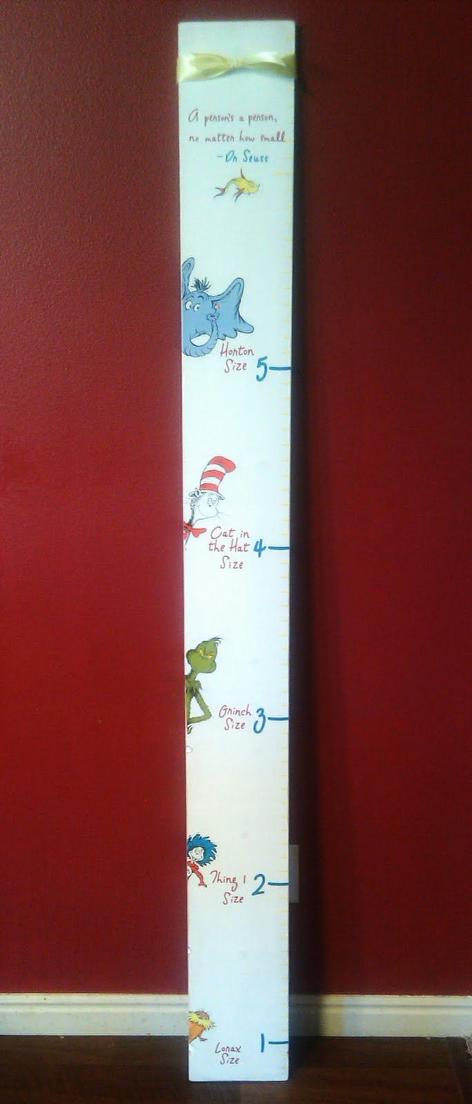 kraftymillie: A super cute Dr. Seuss Growth Chart...One of my favs so far :)