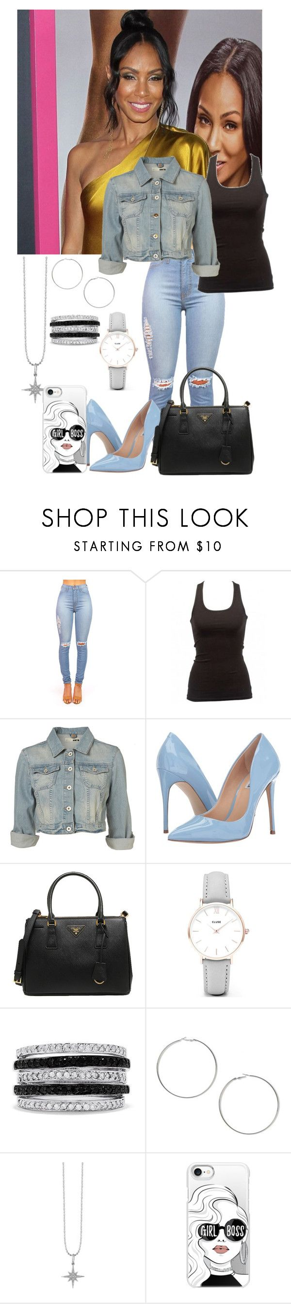 """""""Tryna Catch Me like El Chapo"""" by i-be-romania143 ❤ liked on Polyvore featuring Steve Madden, Prada, CLUSE, Effy Jewelry, Miss Selfridge, Sydney Evan and Casetify"""