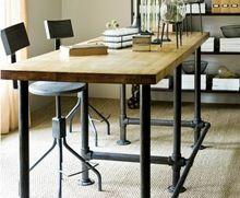 Американский в стиле кантри деревянные столы, Из кованого железа стол чердак ржавчины сделать старый ретро компьютерный стол офис столы(China (Mainland))