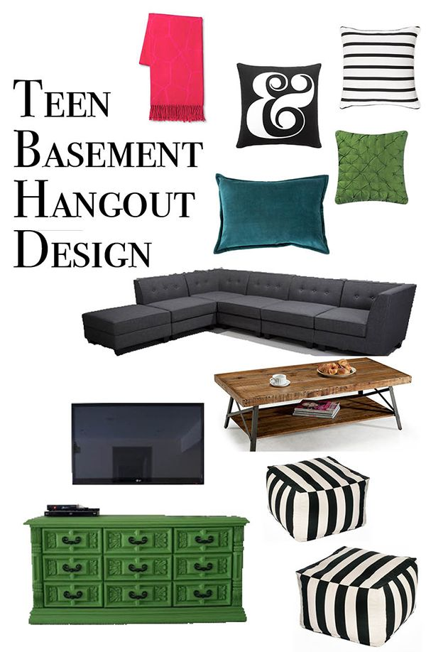 Teen Basement Hangout Design Plan | Less Than Perfect Life of Bliss | home, diy, travel, parties, family, faith