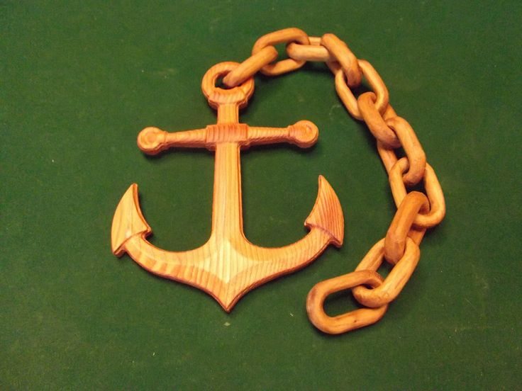 Wooden Anchor and Chain