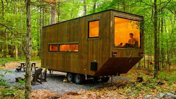 Que tal morar numa microcasa na floresta? Já tem test drive