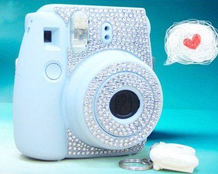 diamond camera sticker for fujifilm instax mini 8 silver camera photo instax. Black Bedroom Furniture Sets. Home Design Ideas