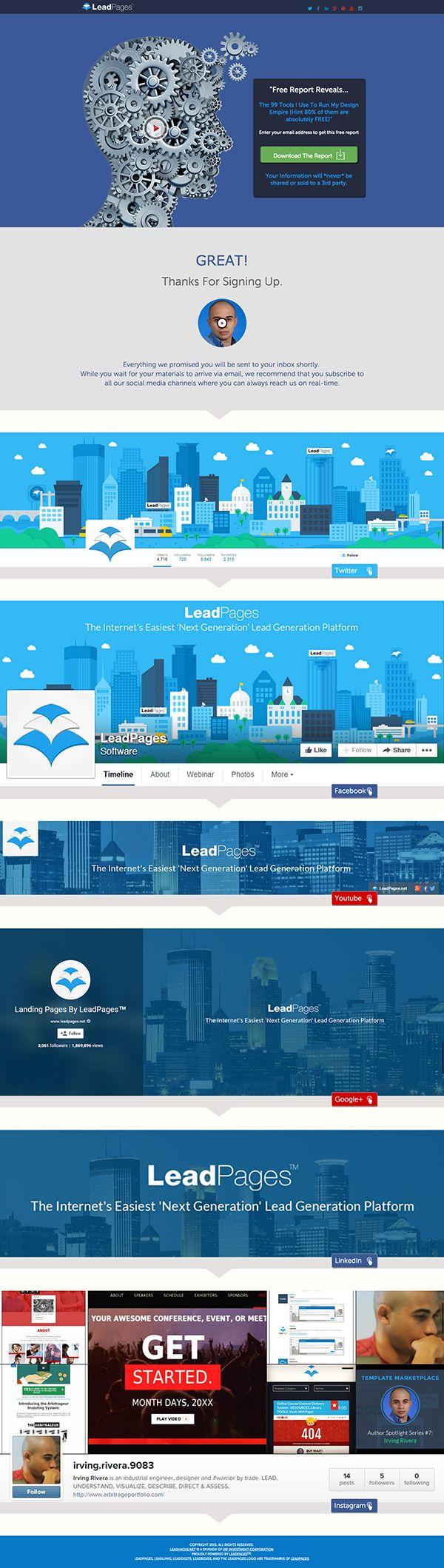 13 best leadpages templates images on pinterest design facebook lead magnetbribe email capture landing page material design leadpages template pronofoot35fo Choice Image