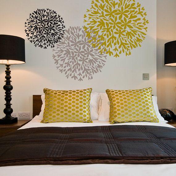 ALLIUM Wall Stencil • Reusable Stencils • DIY • Home Decor • Interiors • Feature Wall • Wallpaper alternative • Motif