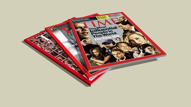 Time Magazine Stack - 3D Warehouse