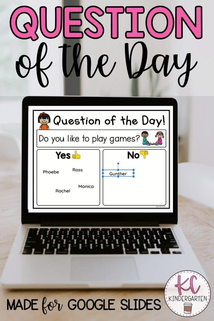 Digital question of the day video distance learning