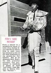 Promising Black Matador Rafael Santa Cruz - Jet Magazine, August 27, 1953   by vieilles_annonces