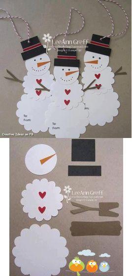 Adorno de muñeco de nieve. #DecoracionNavidad