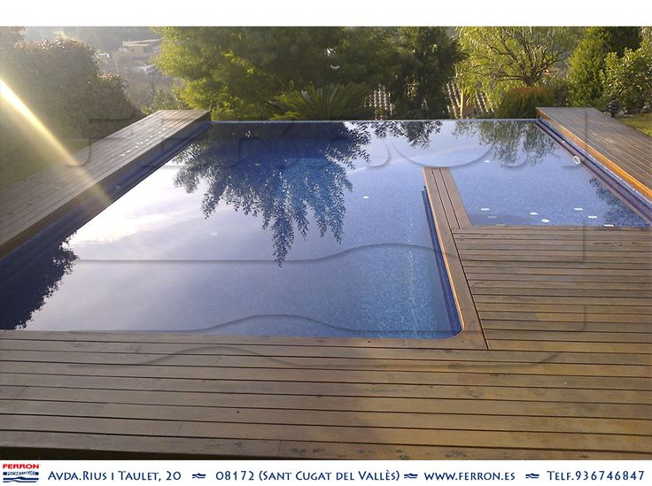 Las 27 mejores im genes sobre ferr n piscinas en pinterest - Piscina madera rectangular ...