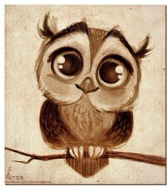 How to draw a cute baby owl - photo#19