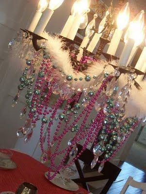 Fancy nancy party chandelier  | Step 3. Great the princesses at the door, which is decorated of course ...