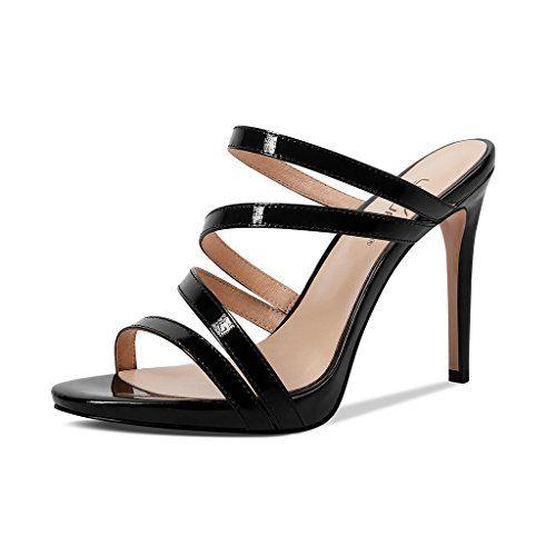 JE shoes Sandalen Stiletto Heels Sandalen Lackleder Schuhe Europa und Amerika 9c…