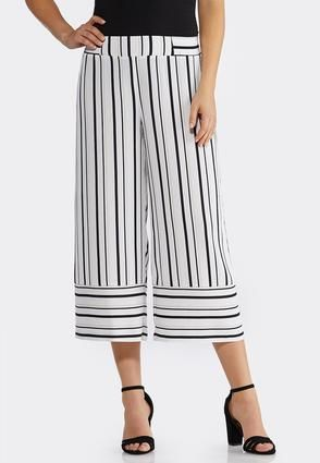 10df6ec2ec Striped Wide Leg Cropped Pants Cropped Pants Cato Fashions in 2019 ...