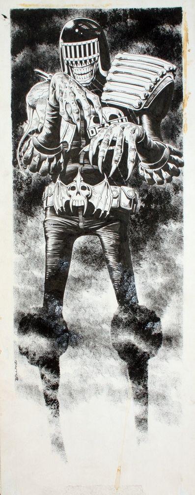 Judge Death Door Poster Original Art Comic Art