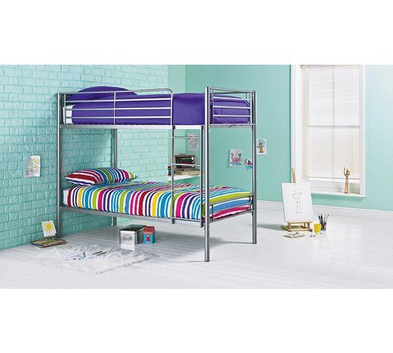 Buy HOME Samuel Shorty Bunk Bed Frame - Silver at Argos.co.uk - Your Online Shop for Children's beds, Children's furniture, Home and garden.
