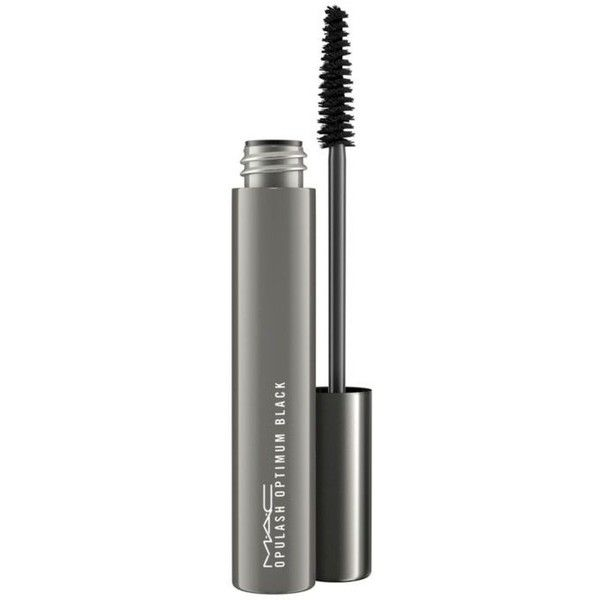 Mac  Opulash Optimum Black ($17) ❤ liked on Polyvore featuring beauty products, makeup, eye makeup, mascara, optimum black, smudge proof mascara and mac cosmetics