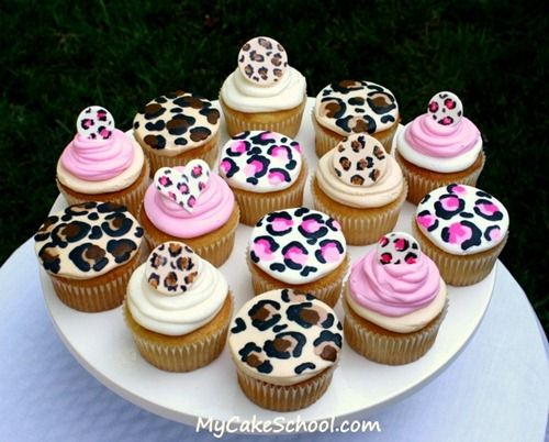 leopard cupcakes....OMG
