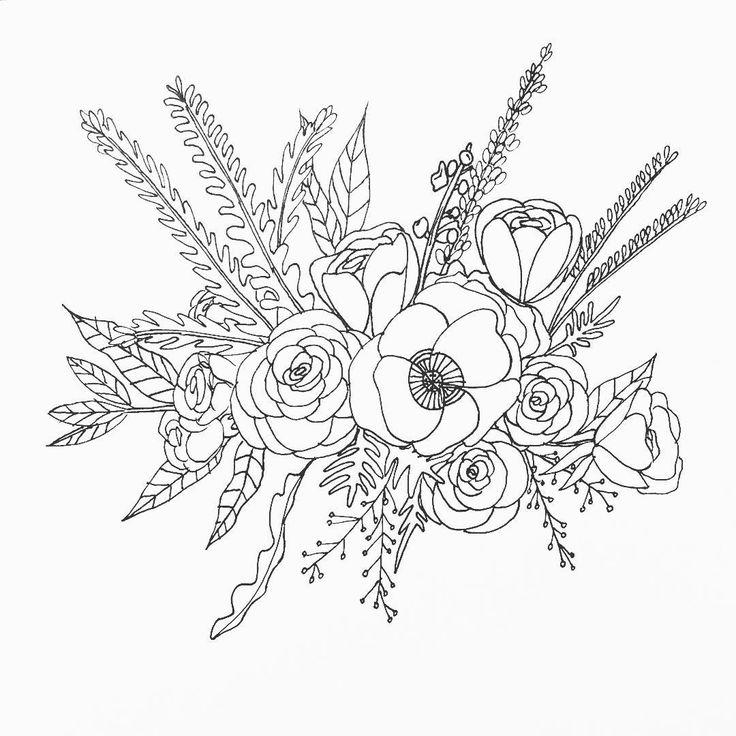 Oh, spring...  #flowerdrawing #flowerillustration #linedrawing #lineillustration #spring #springfever #springflowers #bouquet #poppy #portlandlocal #portlandartist #thepigeonletters #micron #micronpen #botanicalart #botanicalillustration