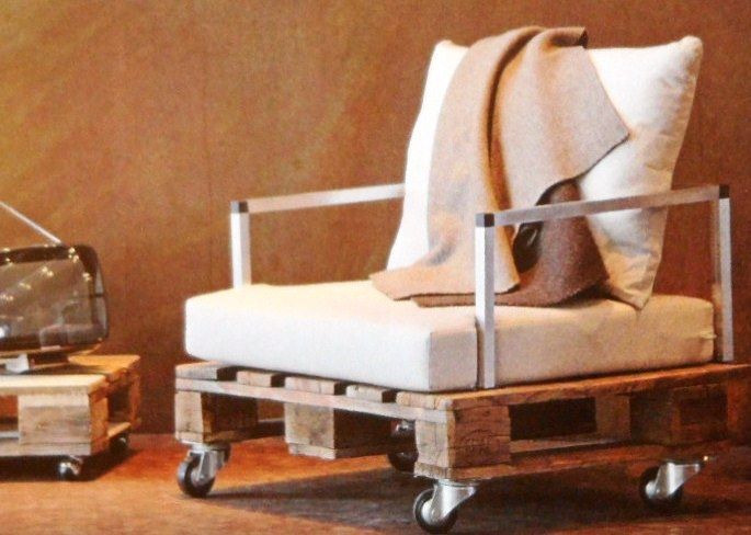 Holz Paletten Sessel