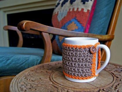 One of a Kind Coffee Mug / Tea Cup with Crochet Cozy