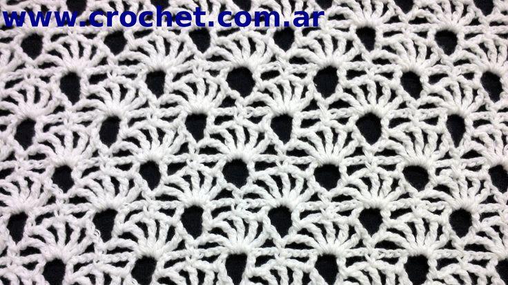 Punto fantasía N° 73 en tejido crochet tutorial paso a paso.