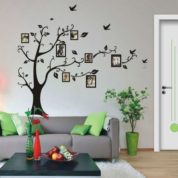 Vinyl Family Tree Wall Sticker Decal Medium Large XL Black DIY Photo Frame  Tree Wallpaper Stickers Part 90