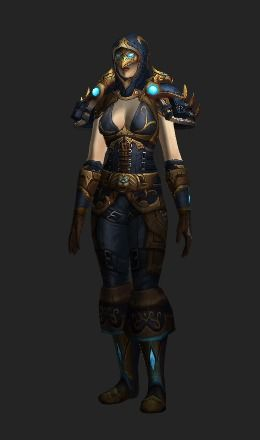 A Rogue transmog set. Requires level 80. View it on your character with the model viewer. See a list of what transmog goes with it. Always up to date.