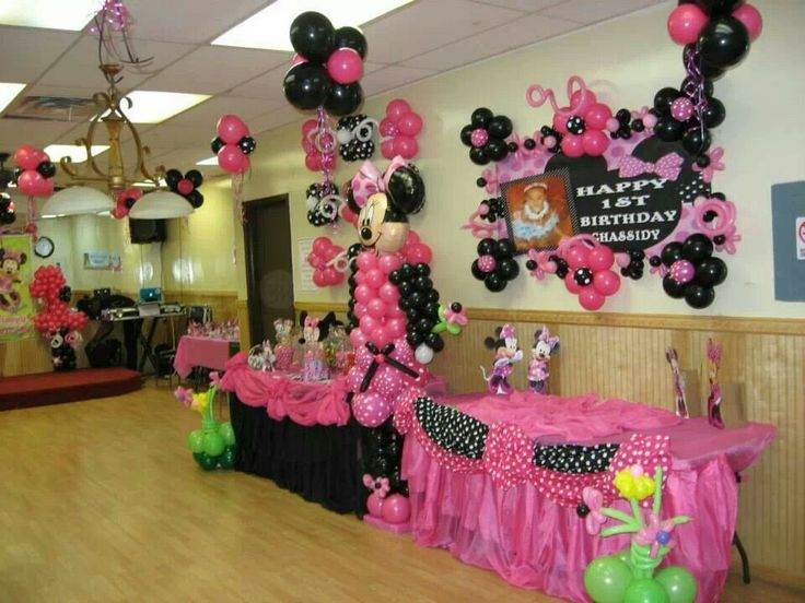 Party Hall Decoration Ideas Minnie Mouse Decors HALLS DECORATIONS