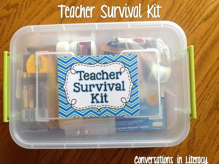 Back to School Teacher Survival Kits:  What to keep in your kit to make it through those little emergencies at school!