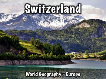 Switzerland PowerPoint has 43 slides and provides an overview of Switzerland's history, geography, government, economy, and culture.Includes:Overview/geography: 7 slidesFlag: 1 slideHistory: 16 slidesGovernment: 3 slidesEconomy: 4 slidesCulture: 6 slidesMiscellaneous info: 5 slidesA worksheet that can be used with this presentation can be found here: Switzerland Worksheet, or the presentation can be used separately.
