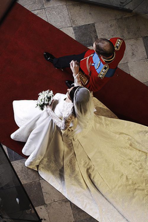 Prince William and Kate Middleton on their wedding day- April 29, 2011