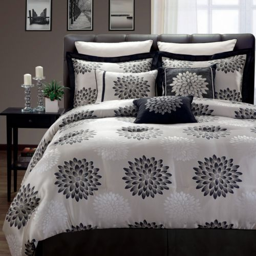 22 Best Images About B W Comforter On Pinterest The Black Bed Sets And Bed In A Bag
