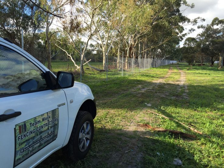 Galvanised chainmesh fencing in Swan Valley, no barbs on top.
