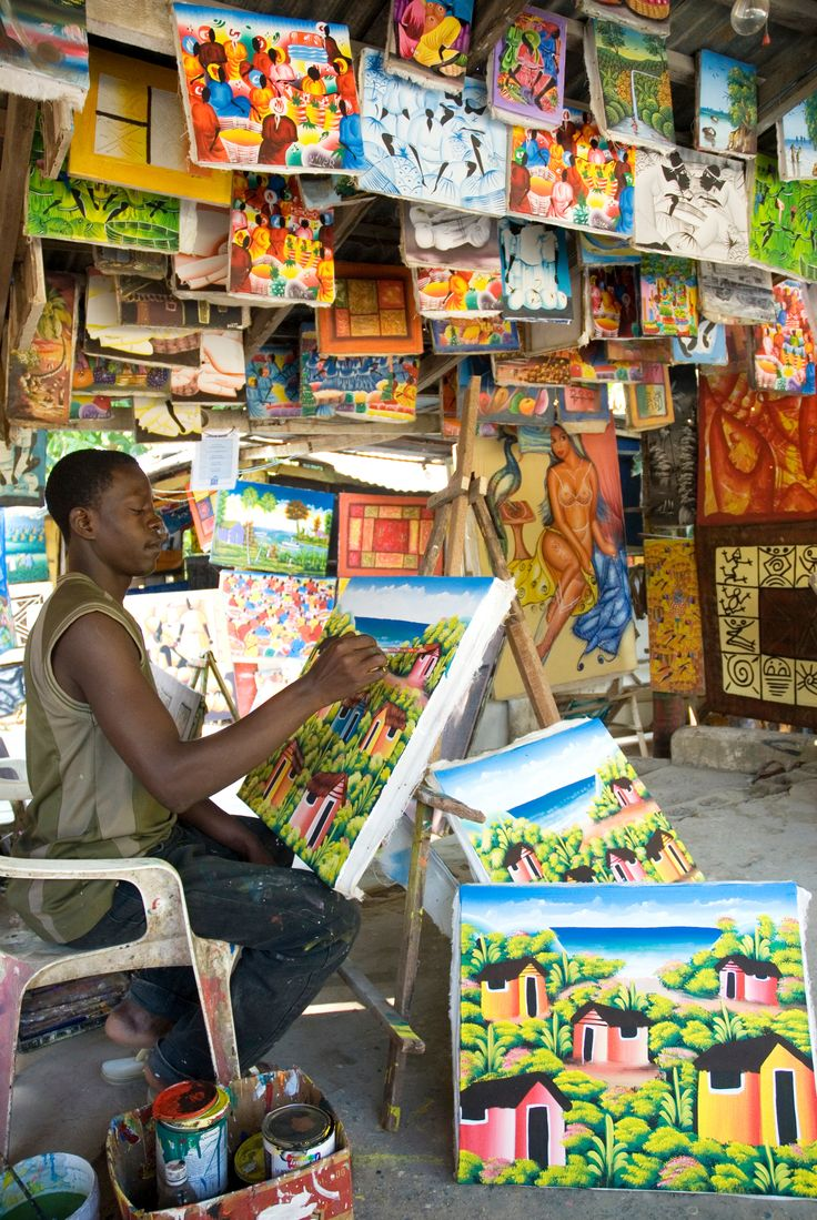 Local artist at work, Dominican Republic.... I can't wait to get some!!!!