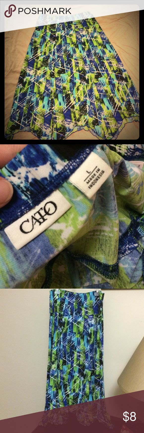 Dressy skirt!💚PRICE DROP!! Adorable bright comfy/stretchy skirt!😉 Cato's brand! Skirts A-Line or Full