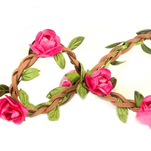 Hippie Love Flower Garland Crown Festival Wedding Hair Wreath BOHO Floral Headband (Rose Red) Broadfashion http://www.amazon.com/dp/B00LL3NH82/ref=cm_sw_r_pi_dp_B1doub1Q682QF