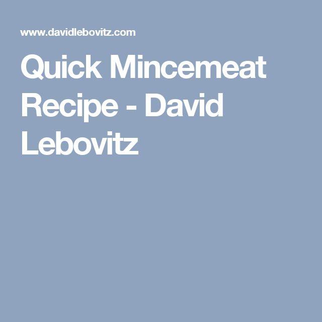 Quick Mincemeat Recipe - David Lebovitz