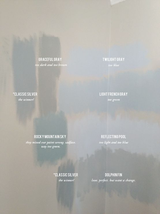 Gray / Grey - testing paint colors on the wall - painting the living room, on live creating yourself blog