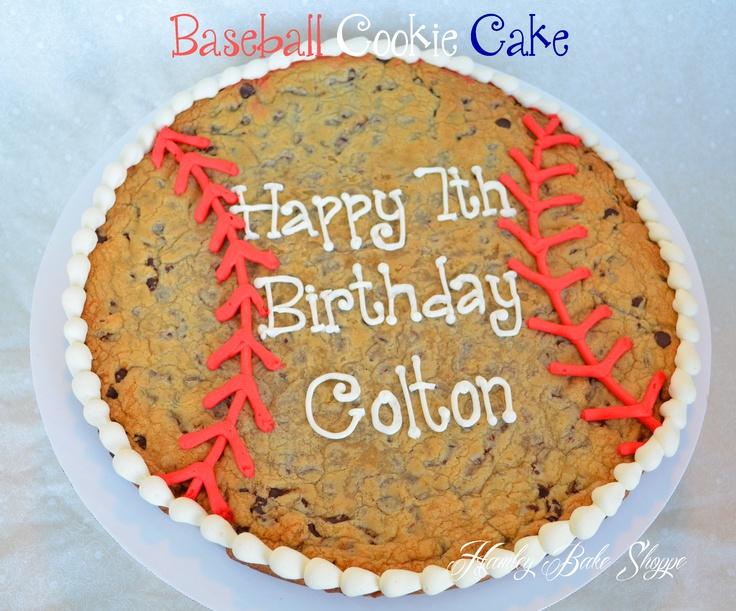 Baseball Cookie Cake  www.hamleybakeshoppe.com