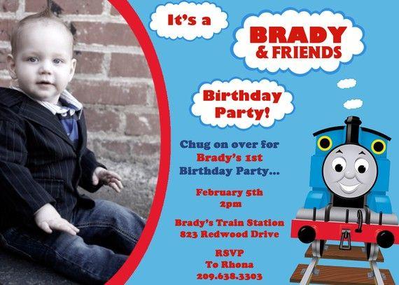 86 best Thomas/Train invitations images on Pinterest