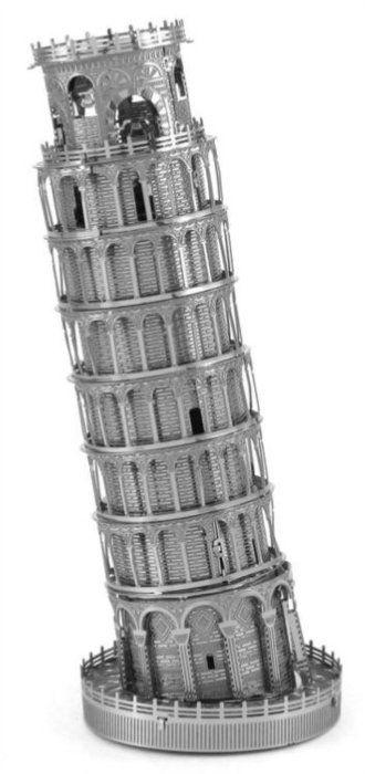 3D kovové puzzle METAL EARTH ICONX:  Šikmá věž v Pise