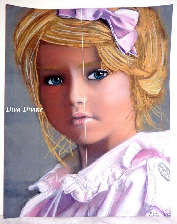 Pastel Sec pour Tableau Bohème, Romantique, Portrait, * ALIX * - Création Originale : Accessoires de maison par diva-divine