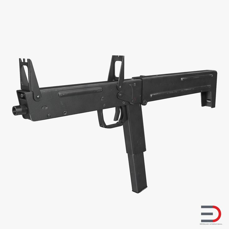 Russian Folding Submachine Gun PP-90 SMG 3D model